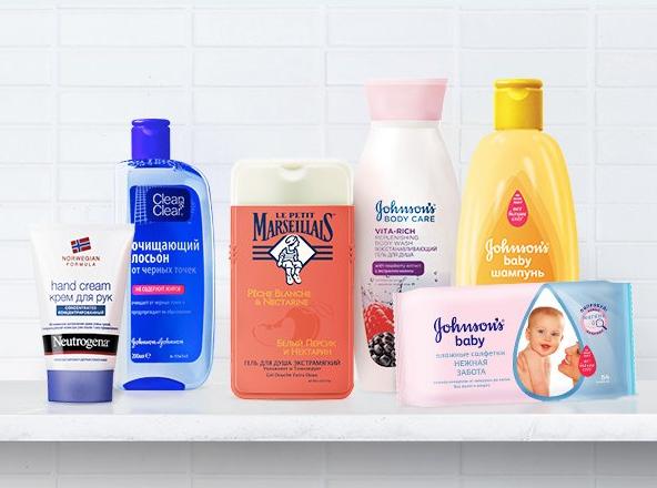 Продукты Johnson & Johnson по уходу за кожей